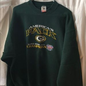 Green Bay Packers super bowl crew neck sweater